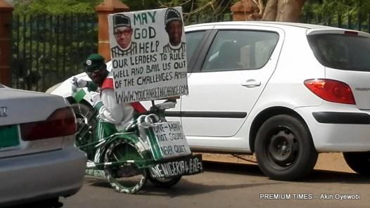 A Pro-Buhari protester