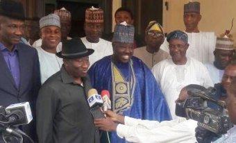 Former President, Goodluck Jonathan and Ali Modu Sheriff