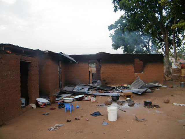 Burnt house in Goska Village, southern Kaduna.