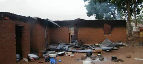 Burnt house in Goska Village, southern Kaduna.