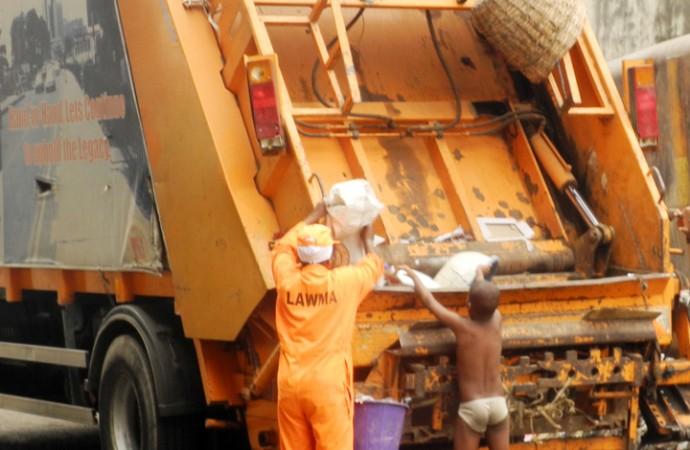 Lagos waste truck [Photo Credit:Today.ng]
