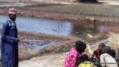 Mallam Kashibu uses children kept with him for Islamic education on his farm at Kwallaga