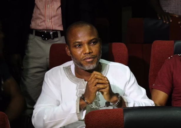 Court strikes out six charges against Nnamdi Kanu, three others