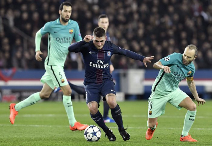 PSG vs Barcelona [Photo credit: Twitter - Squawka Football]