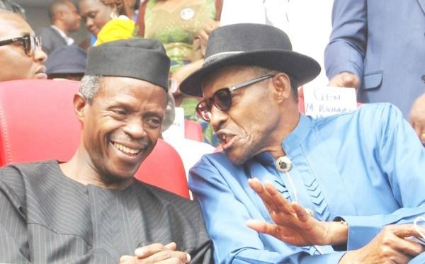 President Muhammadu Buhari and Vice President, Yemi Osinbajo [Photo: Dailypost.ng]