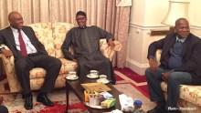 Saraki with Buhari in London 2