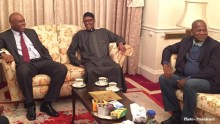 Saraki with Buhari in London 2