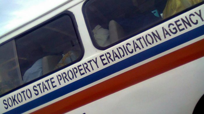 Sokoto repaints agency vehicle after online ridicule [Photo credit: Twitter @DoubleEph]