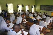 Students writing exams