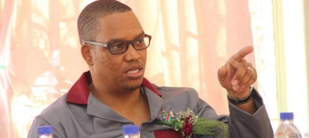Lands deputy minister Bernadus Swartbooi. [Photo credit: Namibian SUN]