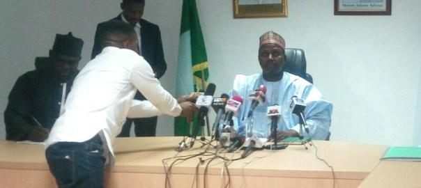 Abdullahi Baffa, the Executive Secretary, TETFund at a press briefing in Abuja on Monday.
