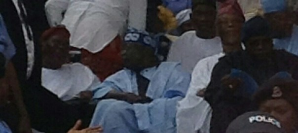 Bola Tinubu at the inauguration of Rotimi Akeredolu as Ondo State Governor