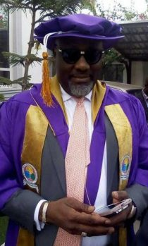 Dino Melaye on academic gown