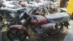 16 brand new cargo motorcycles recovered former Comptroller General of Nigeria Customs Service, Abdullahi Dikko Inde.
