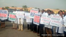 Doctors protesting the neglect of health sector in Ogun State