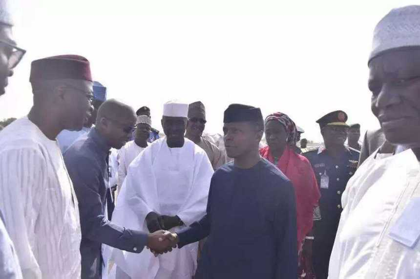Osinbajo meets Guinea Bissau Prime Minister at Kaduna Airport [Photo: Daily Post]