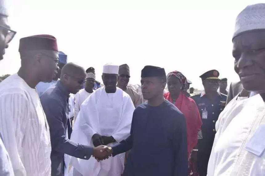 Osinbajo meets Guinea Bissau Prime Minister at Kaduna Airport [Photo: Daily Post]