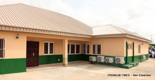 The newly built and commissioned Asiwaju Bola Ahmed Tinubu Comprehensive Primary Health Care Centre at Church Street, Agbelekale in Agbado/Oke-Odo LCDA, Lagos, on Wednesday, March 29, 2017.