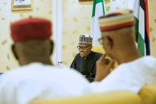 President Muhammadu Buhari meets with Ministers and APC leaders