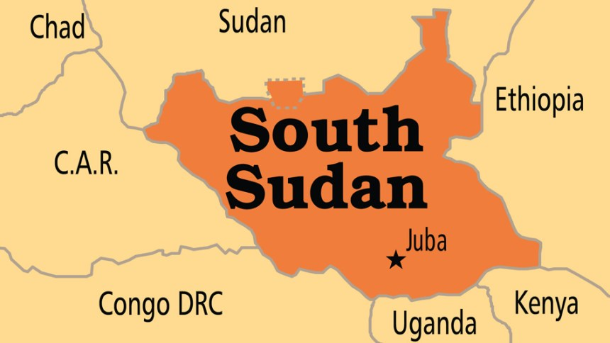 South Sudan on map