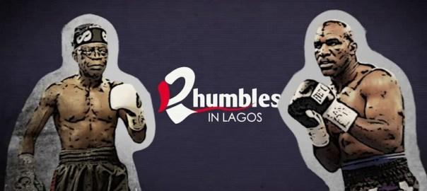 Rhumble in Lagos between Bola Tinubu and Evander Holyfield