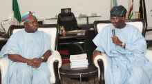 FILE PHOTO: Lagos Governor, Akinwunmi Ambode and Works Minister, Babatunde Fashola