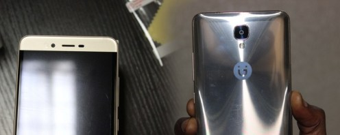 Gionee M6 Mirror: Front and Rear view