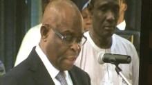Chief Justice of Nigeria, Walter Onnoghen being sworn in as CJN