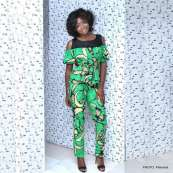 Shine like a million bucks in an ankara cold shoulder jumpsuit