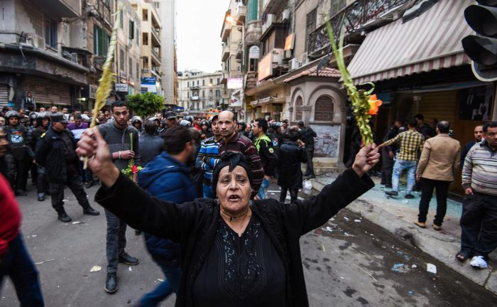 Egyptian Christians weep with rage after Palm Sunday bombing killed 44 [Photo Credit: CNN]