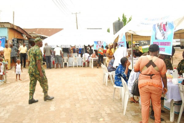 Cross section of the outreach