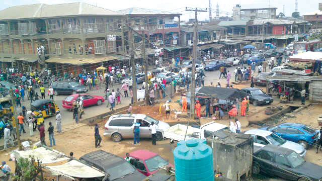 A street in Ikorodu town, Lagos [Photo Credit: The Guardian] Coronavirus COVID-19: More cases suspected in Nigeria as Lagos conducts fresh tests