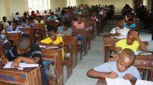 Nigerian pupils writing National Common Entrance examination {Photo: NAN}