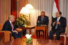 U.S. President, Donald Trump with Egyptian President, Abdel-Fattah al-Sisi