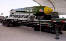 U.S. drops largest non-nuclear bomb on Afghanistan [Photo: Telegraph.co.uk]
