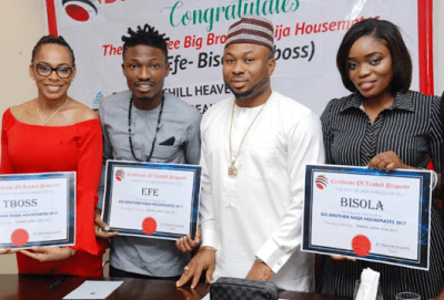 From Left: T-Boss, Efe, Churchill and Bisola