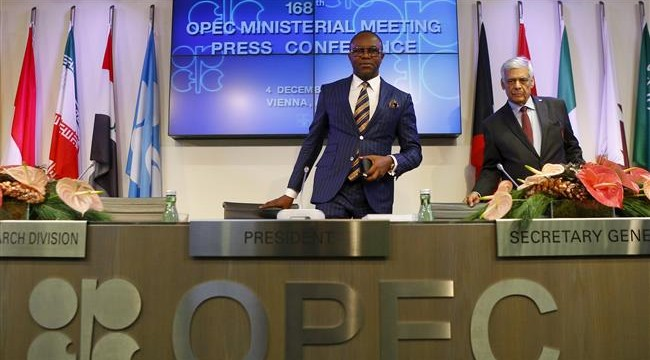 Minister of State for Petroleum Resources, Ibe Kachikwu during the 168th OPEC meeting in Vienna