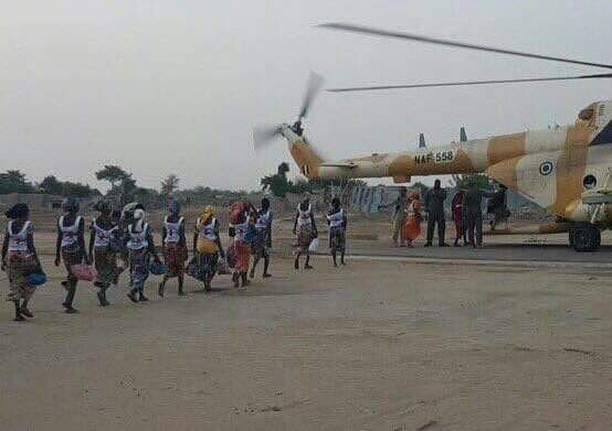 82 schoolgirls freed in deal with Boko Haram arrive in Abuja