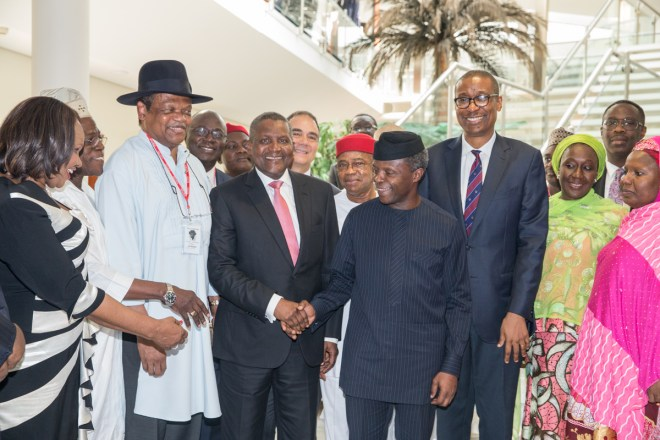 Osinbajo Inaugurates Nigerian Industrial Policy and Competitiveness Advisory Council.