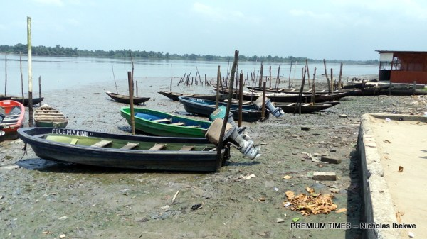 A jetty devastated by oil spill in Bodo, Gokana Local Government, River state.