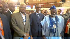 FROM LEFT: DG NITDA DR. ISA ALI IBRAHIM PANTAMI FBCS, RWANDAN PRESIDENT PAUL KIGAME AND NIGERIA'S COMMUNICATIONS MINISTER, BARRISTER ADEBAYO SHITTU