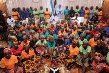 Freed Chibok girls meets with President Buhari