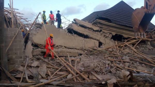 Collapsed Lekki gardens' building