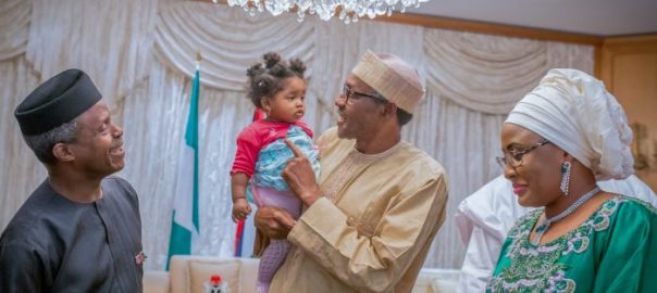 Buhari with a child