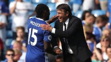 Victor Moses and Antonio Conte