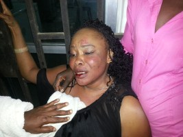 Mrs. Idongesit Ese ... when she was allegedly beaten and ran over with an SUV by the husband, Nsikanabasi Ese