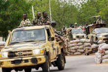 Nigerian Army on patrol in Borno, Boko Haram