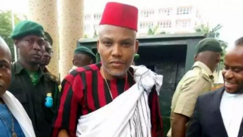 Nnamdi Kanu, leader of the Indigenous People of Biafra (IPOB)