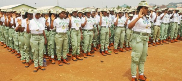 National Youth Service Corps (NYSC) 2017 Batch 'A' members taking oath during their swearing-in ceremony in Abuja on Thursday (25/5/17).02806/25/5/2017/Anthony Alabi/BJO/NAN