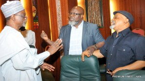 FROM LEFT: Minister of Education, Malam Adamu Adamu; Minister of Communications, Mr Adebayo Shittu; and Minister of Labour and Employment, Sen. Chris Ngige, at the Federal Executive Council Meeting in Abuja on Wednesday (24/5/17).02752/24/5/2017/Callistus Ewelike/EO/BJO/NAN